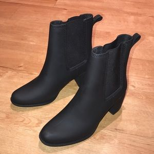 Jeffrey Campbell Havana Matte Black Rain Boots